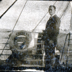 Frank Wright Vincent on board SS Duquesa, Liverpool, 1919