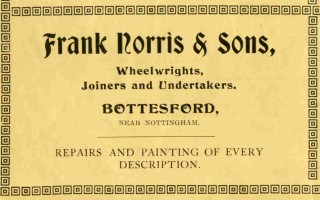 Frank Norris & Son advert from the 1926 Bottesford Amateur Operatic Society programme for 'The Pirates of Penzance'