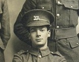 Reginald Christmas photographed with the Bottesford Squad Mobilisation 1914