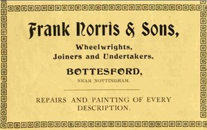 1926 advertisement for Frank Norris and Sons