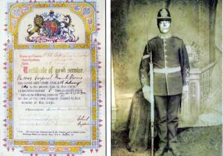 No. 2049 Corporal Frank Norris, 1st Volunteer Battalion, Leicestershire Regiment, 1884 - 1892
