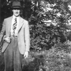 Frank Topps with his dog