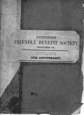 Friendly Society Rule Book 1858