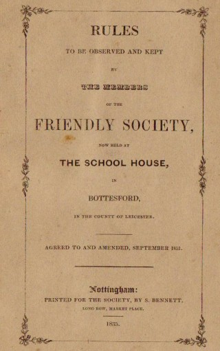 Friendly Society Rule-Book 1835