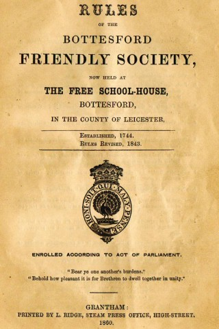 Friendly Society Rule-Book 1860