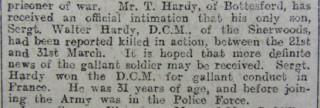 Walter Hardy's Obituary