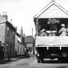 Either the Mother's Union or the W.I float processing along Albert Street on a lorry owned by T. Samuels