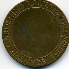 Reverse side of Bronze Vegetable & Flower Show Medal awarded to Mr. Harry Bateson in 1923