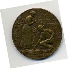 Bronze Vegetable & Flower Show Medal awarded to Mr Harry Bateson in 1923