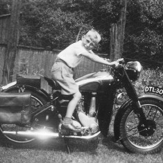 Gerald Coy's motorbike being borrowed by his cousin David Gibbons!