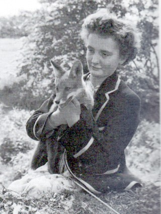 Girl with fox 1956