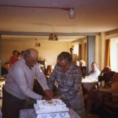 Mary and Frank Topps' Golden Wedding celebration in 1984