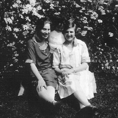 Winnie Bray with her friend Grace Hall at the Duke's stables, Woolsthorpe-by-Belvoir. 1920's.