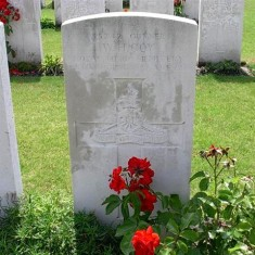 Grave of William Henry  Coy, RFA, Artillery Wood Cemetery, Boezinge, Belgium. | From the collection of Iain Coy