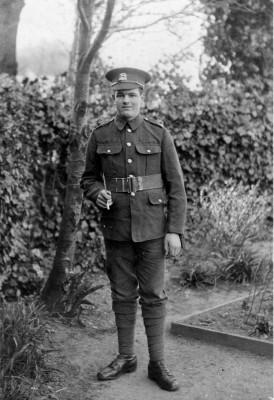 Harold Hallam in uniform