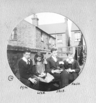 The Hatton Children living in Bedford. Frederick, Lois, Edward and Walter. | From the Collection of Mr. Charles Hatton