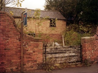 The Rectory Stable Yard  entrance shortly before the stables were demolished/
