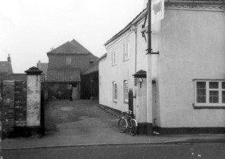 The Bull Yard showing the now demolished out buildings to the rear of the malthouse