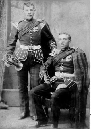 Photograph taken in the Punjab. John William Stewart standing