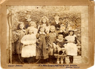 A 'Dames School' in Bottesford, c.1900: a posed group photograph showing a small group of pupils and two young teachers.   Contributed by Mrs Rosemary Frost