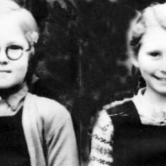 Janet Tinkler (left), Brenda Sellers (right),  1948?