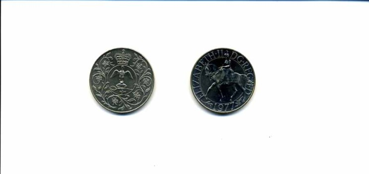 Jubilee Commemorative 5 shilling piece