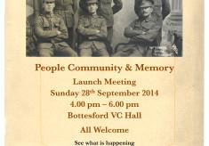 Bottesford Parish WW1 Centenary Project - Launch Meeting