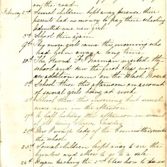 Page 2 of Log Book February 2nd - 25th 1863