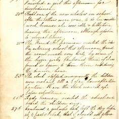 Page 1 of the Log Book January 19th-27th 1863