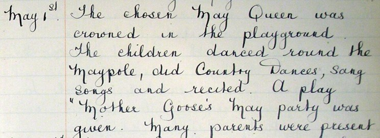 Log Book, Bottesford C.E. Infants School 1934