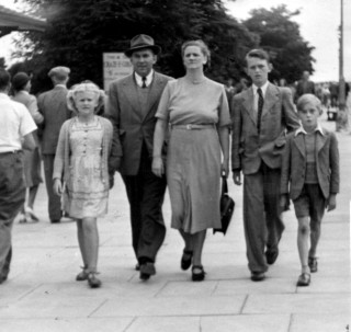 The Bradshaw family at Skegness, 1950