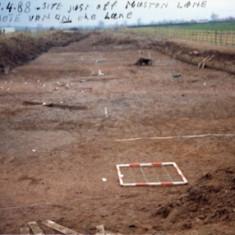 Archeological investigations  - April 1988