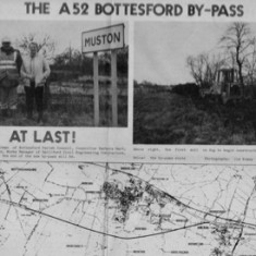 The A52 Bottesford bypass  - At last. Unfortunately there was one maojr and two less severe  road traffic accidents within 24 hours of its opening.