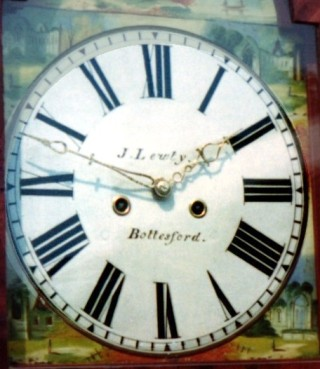 A clock by James Lewty still owned by a Bottesford resident.