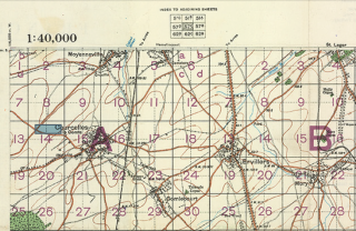1917 Map of the Somme | Austalian Army Archive