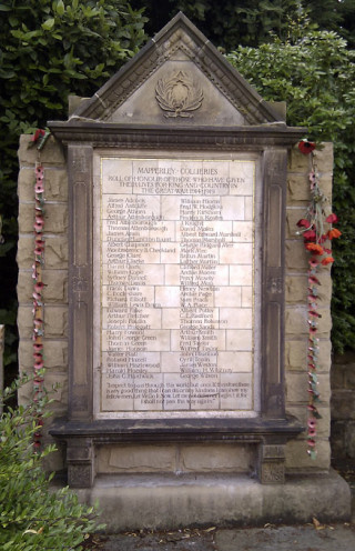 Mapperley Colliery Company War Memorial, West Hallam