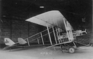 An early Maurice Farman used for training 1915-16 (photo and caption by Edward Packe)
