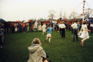 May Pole Dancing in 1986 - Bottesford Primary School