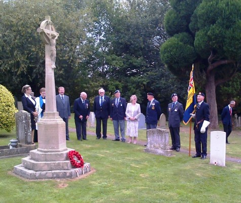 Royal British Legion at Muston to remember the fallen of the First World War.
