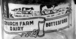 Milk Bottles from Palmer's Dairy