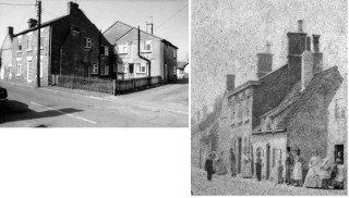 Mill House, Queen Street, Bottesford where J.D. Robinson lived in the 1890's. The photographs show the house in the 1970's and 1870's