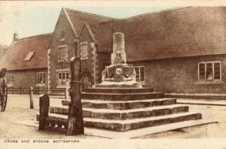 Bottesford school, viewed from the Cross and Stocks