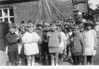 May Pole Dancing in 1920/30's - Bottesford  School