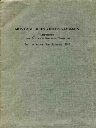 Memorial service front cover