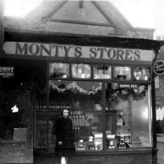Margaret Montegriffo outside Monty's Stores.