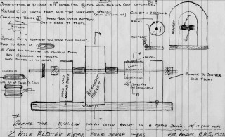 2 pole electric motor from scrap items -  patent pending Percy H Stimpson, circa 1935
