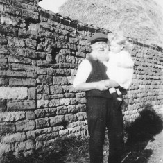 Harold Long's father holding his and Susan Long's (Coy) son John c. 1926.