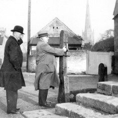 Mr. Terry visiting Bottesford, 1921