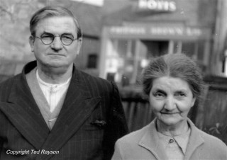 Mr and Mrs W H Greaves - cycle shop proprietors in the 1960s