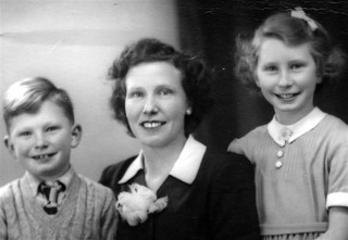 My brother Richard, Mum and myself - probably taken about 1947 at Freckleton Studio in Nottingham.